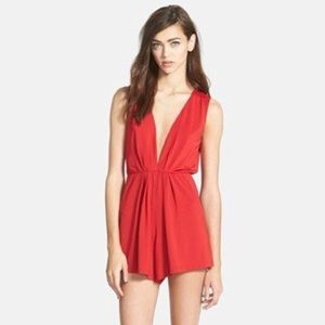 Topshop Glamorous Red Romper